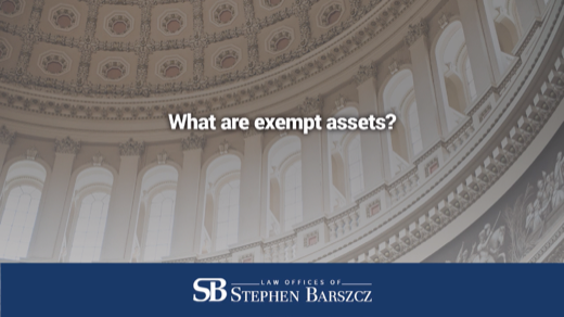 What are exempt assets?