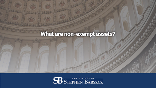 What are non-exempt assets?