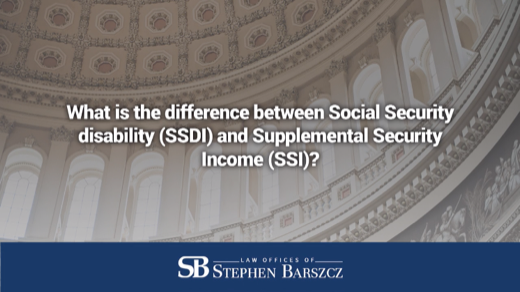 What is the difference between Social Security disability (SSDI) and Supplemental Security Income (SSI)?