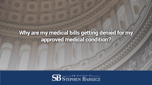 Why are my medical bills getting denied for my approved medical condition?