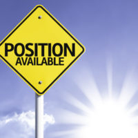 Position Available road sign with sun background